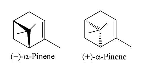 Alfa pinen - wzór chemiczny