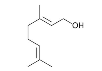 Geraniol - wzór chemiczny