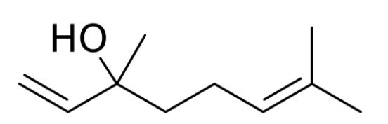 Linalol - wzór chemiczny